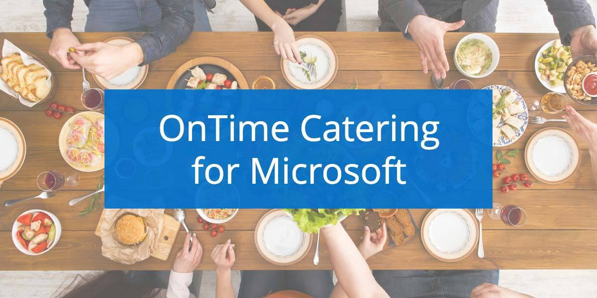 OnTime Catering Now Available for Microsoft (in German)